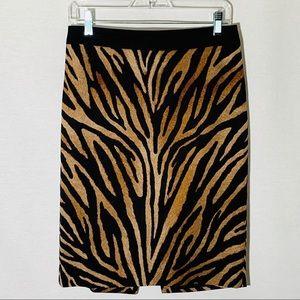 WHBM animal print pencil skirt, size 6